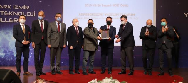 Yüksek Teknoloji Özel Ödülü 2019 Yılı En Başarılı KOBİ Ödülü AdresGezgini'nin