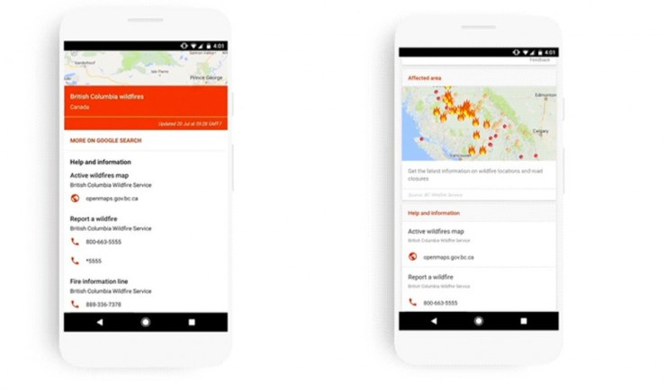 Google'dan Felaket Anlarında SOS Uyarısı