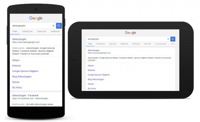 Google Mobil Uyumlu Web Sitelerini Arama Sonuçlarında Üst Sıralara Çıkarıyor