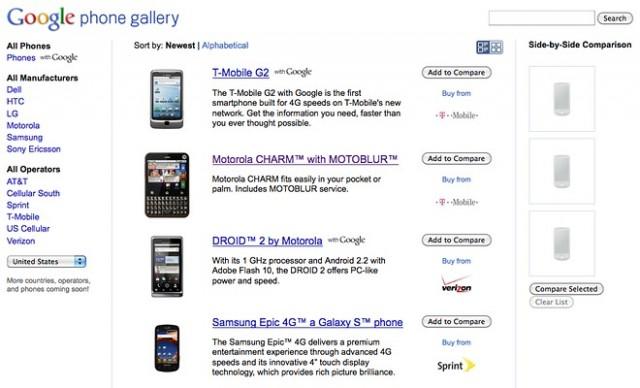 Google Telefon Galerisi: Android Cihaz Seçiminde Yeni Yardımcınız!