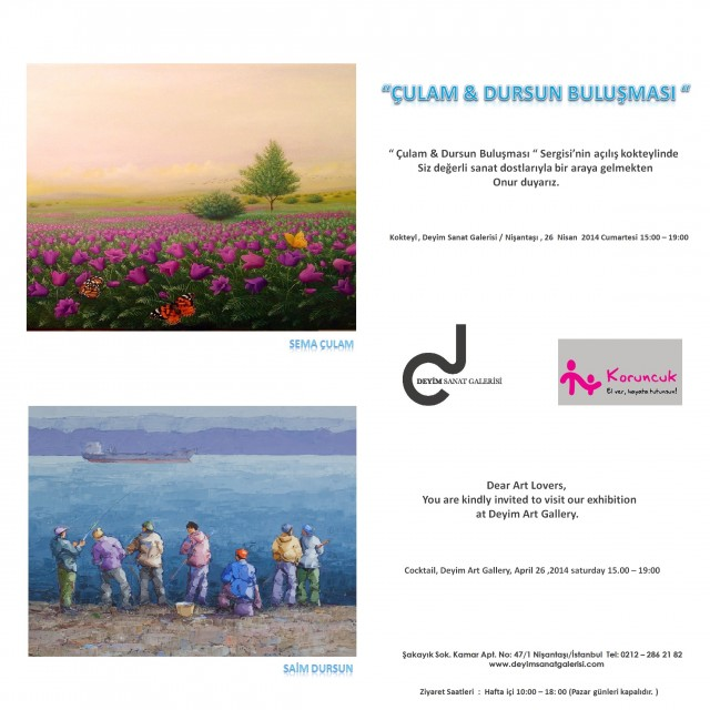 'Çulam&Dursun Buluşması' Sergisi 26 Nisan da Sanatseverlerle Buluşacak