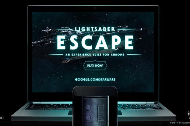 Google Chrome'dan Işın Kılıcı Deneyimi: Lightsaber Escape
